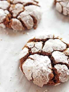 Gingerbread crinkle cookies are a must-try during the holidays. They are chewy, full of ginger flavor and coated in sugar with exposed cookie cracks.