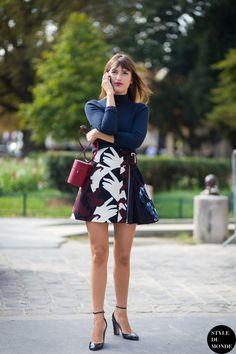 great skirt. #JeanneDamas in Paris.