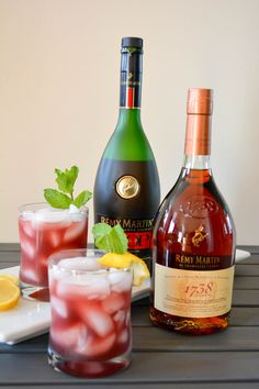 Passion Defined with Remy Martin 1738 Refreshing Summer Cocktails, Cocktail Drinks, Cocktail Recipes, Alcoholic Drinks, Liquor Drinks, Beverages, Alcohol Drink Recipes, Easy Drink Recipes, Cognac Drinks