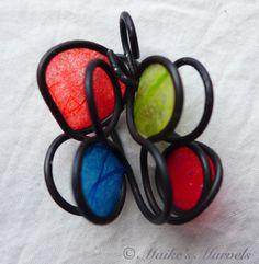 Infinity red, blue, green sculptural pendant – Maike's Marvels