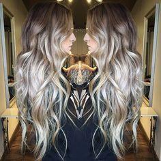 dark and light smokey blonde toned ombre  #hairbymarissamae