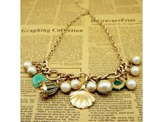 Bohemian Pearl and Shell Pendant #Necklace