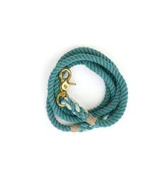 Cotton Rope Dog Leash Hand Dyed: Lake, Medium Juka Araikawa