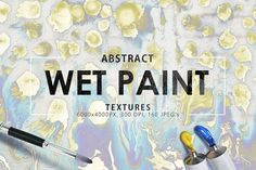 Wet Paint Textures Vol. 1 by ArtistMef on @creativemarket