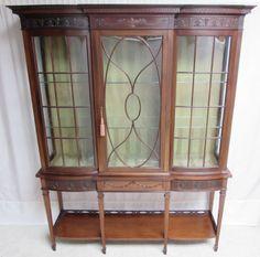 Quality Adams Mahogany Display Cabinet