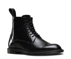 A gentrified option to the original 1460, the Winchester 7-Eye Zip boot in Polished Smooth leather is brand new this season. Drawing on traditional British boot making design, the slender outsole and tonal heel loop creates a contemporary look, whilst decorative twin-stitch on the upper and toe, simple blind eyelets, side zips and full leather lining creates a more formal, premium feel. A Goodyear welted boot, the bouncy Airwair sole is oil-and-fat-resistant, hard wearing and offers good…