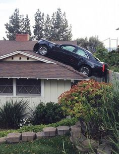 parking on your roof - Dump A Day Funny Captions, Funny Jokes, Funniest Memes, Ontario, Bungalow, Indian Funny, Dump A Day, Funny Dog Videos, Funny Couples