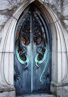 Verdigris Nouveau Doors - Patina & Oxidation