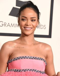 Most Memorable Beauty Moments at the Grammys - Rihanna, 2015 from #InStyle