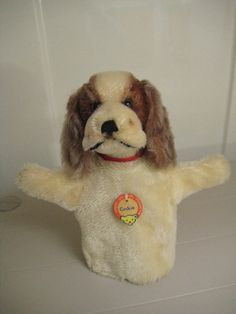 New listing in my ETSY Shop: #Steiff Vintage Cocker Spaniel Dog Hand Puppet - Button and Chest Tag – Precious Pup!  #CockerSpaniel