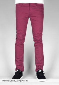 Trap TR-2, Jeans-Slim-Fit, bordeaux Titus Titus Skateshop #JeansSlimFit #MenClothing #titus #titusskateshop