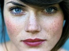 Embrace your freckles: Enhance your natural beauty with a few coats of mascara, rosy cheeks and just bitten lips.
