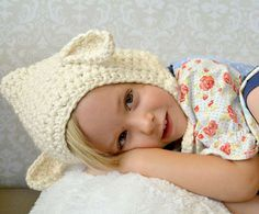 Vintage Style Lamb Hat, free crochet pattern by Mama in a Stitch in toddler size