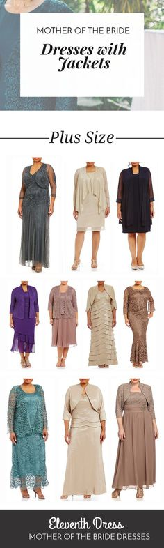 Hundreds of Plus Size Mother of the Bride and Mother of the Groom Dresses with Jackets