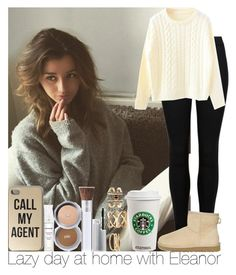 """Lazy day at home with Eleanor"" by irish26-1 ❤ liked on Polyvore featuring UGG Australia, PurMinerals and Charlotte Russe"