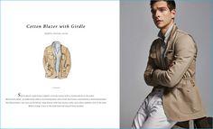 Alexandre Cunha rocks a cotton blazer with girdle from Massimo Dutti.