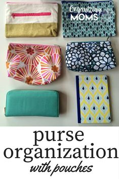 Purse organization for people who like to switch out bags. An easy way to stay organized and stop having to search for stuff in your purse. Purse organization with pouches! Handbag Organization, Home Organization Hacks, Organizing Your Home, Organizing Ideas, Organising, Decluttering Ideas, Bathroom Organisation, Closet Organization, Organized Mom