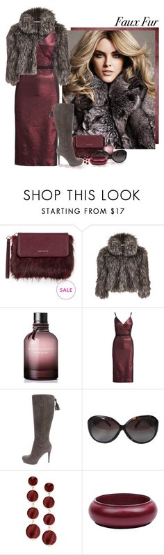 """Faux Fur"" by love-n-laughter ❤ liked on Polyvore featuring Karen Millen, Gina Bacconi, Bottega Veneta, Cinq à Sept, Gucci, Louis Vuitton, INC International Concepts, Hermès, fauxfur and polyvoreeditorial"