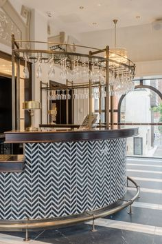 Black Marble, Marble Top, Herringbone Tile, Contemporary Bar, Bar Areas, Light Project, Light Fittings, Opera House, Lighting