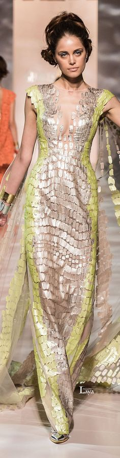 GEORGES CHAKRA Spring-Summer 2015 COUTURE    jaglady - But without the cape back.