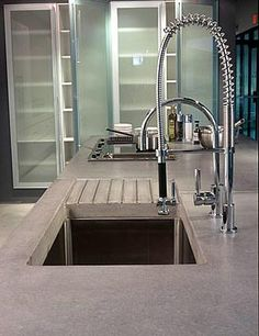 Kitchen - Concrete Coutertop  Industrial, Deep Sink  Concrete Countertops  Art and Maison Inc.  Miami, FL