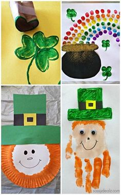 Easy St. Patrick's Day Crafts For Kids (Find leprechauns, rainbows, shamrocks, and more!) CraftyMorning.com- repinned by @PediaStaff – Please Visit  ht.ly/63sNt for all our pediatric therapy pins