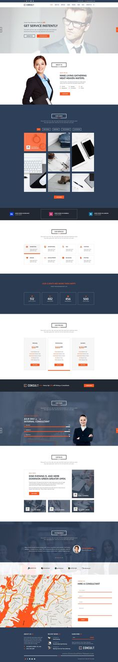 Consult is onepage modern and clean #PSD #template specially for consultancy, agency and business with multipurpose concept #website.