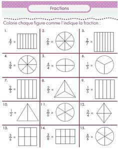 Second grade math worksheets are a great help to second graders. Learn math skills with second grade math worksheets Fractions Worksheets, Math Fractions, Equivalent Fractions, School Worksheets, Second Grade Math, First Grade Math, Math For Kids, Fun Math, Math Math