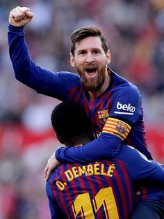 Lionel Messi scored a hat-trick as Barcelona twice came from behind to beat Sevilla in La Liga Fc Barcelona, Barcelona Players, Lionel Messi, Messi 10, Jesus Navas, Foto Top, Latest Sports News, Goalkeeper, Sports