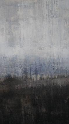 Abstract Texture Painting Ocean Canvas Wall by AmyNealArtStudio