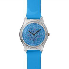 """Blue lotus"" wristwatch to customize."