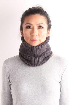 neckwarmer wool knit mask unisex neckwarmer knit cow by VONANA