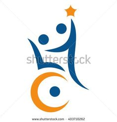 Disability support logo - stock vector