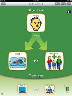 Choice works-App to use with kids for schedules, handling emotions, and waiting skills