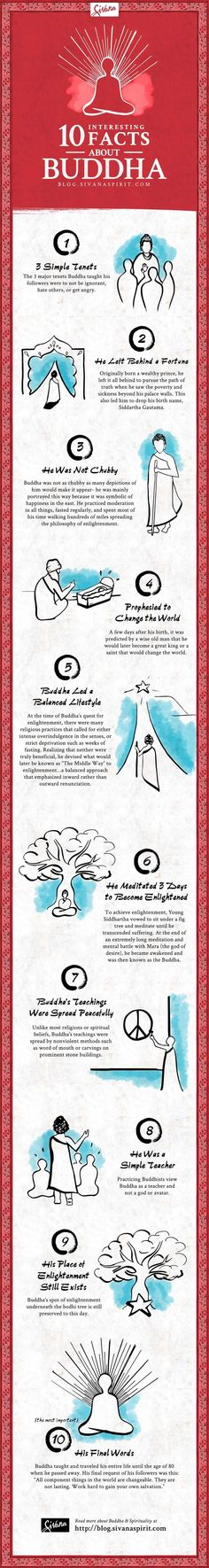 10 Interesting Facts About The Buddha Infographics
