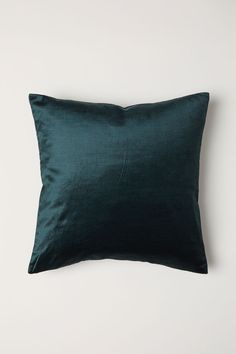 Cotton Velvet Cushion Cover - Emerald green - Home All Velvet Cushions, Seat Cushions, Bed Pillows, H&m Home, Interior Plants, Cotton Velvet, My New Room, Fashion Company, Cushion Covers