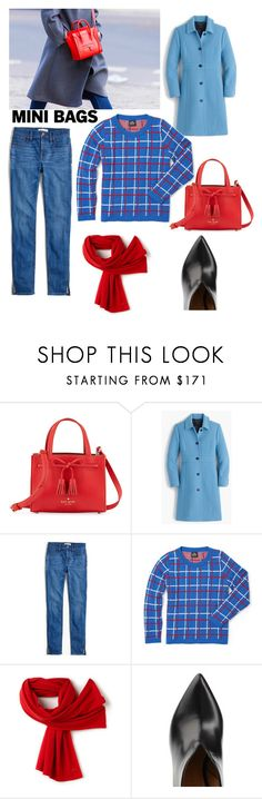 """mini bags -jeans and sweater"" by shistyle on Polyvore featuring Kate Spade, J.Crew, Slater Zorn, Lacoste, Chloe Gosselin and minibags"
