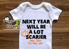 Fall pregnancy announcement - Halloween pregnancy announcement - Pregnancy…