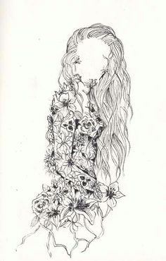 So beautiful and unique expresses femininity in a simple drawing