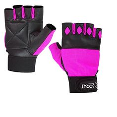 WHEELCHAIR GLOVES PADDED PALM WEIGHT LIFTING GYM FINGERLESS FITNESS BODYBUILDING