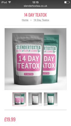 """Our lovely Slendertoztea, metabolism boosting, weight loss aiding, energy boosting detox tea, or """"teatox""""! 20% off with coupon code """"pin20"""" X"""