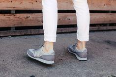 grey New Balance trainers