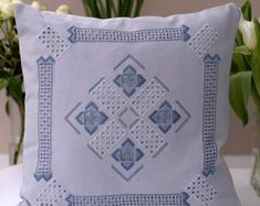 Framed hardanger embroidery & decorative throw pillows by VergelesEmbroidery Sunbonnet Sue, Hardanger Embroidery, Embroidery Art, Web Instagram, Baby Shop, Decorative Throw Pillows, Decoration, Handmade Items, Etsy Seller