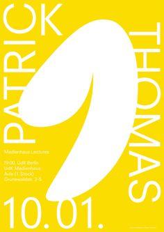 Medienhaus Lectures #1 Talk by: Patrick Thomas, Poster Design by Elias Hanzer and Katharina Nejdl >elias_hanzer
