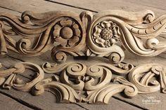 Ornate Decorative Carved Oak Frieze