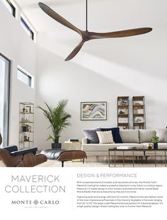 Carlo Maverick 60 in. Indoor/Outdoor Brushed Steel Ceiling Fan with Koa Blades with Remote Control, Monte Carlo Maverick 60 in. Indoor/Outdoor Brushed Steel Ceiling Fan with Koa Blades with Remote Control, Large Ceiling Fans, Black Ceiling Fan, Ceiling Fan With Remote, Outdoor Ceiling Fans, Modern Ceiling Fans, Ceiling Fan No Light, Ceiling Fan Vaulted Ceiling, 3 Blade Ceiling Fan, Living Room Fans