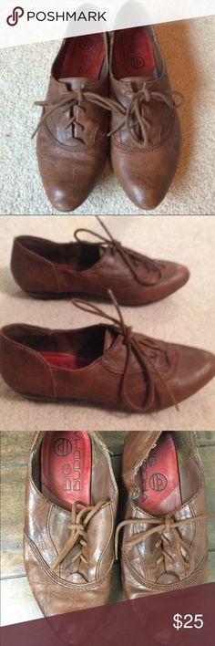 Leather Big Buddha Shoes Cute leather loafers! Just too small for me, in good condition! Worn but still look great! Size 5.5 Big Buddha Shoes Flats & Loafers