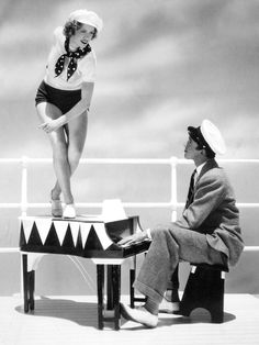 """Jimmy Stewart and Eleanor Powell for """"Born to Dance"""" (1936)"""