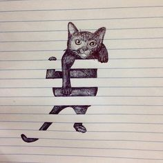 Drawing On Creativity 35 Cool And Creative Drawing Ideas For Teenagers - We understand the need of the teenage mind. In the next 20 minutes you are going have a list of cool and creative drawing ideas for teenagers. 3d Drawings, Awesome Drawings, Drawings On Lined Paper, Illusion Drawings, Optical Illusion Art, Optical Illusions Drawings, Cute Drawing Pictures, Fun Pictures To Draw, Amazing Pencil Drawings