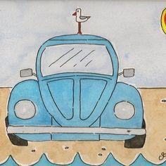 VW Beetle Painting